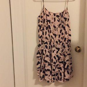 Blush paint stroke dress